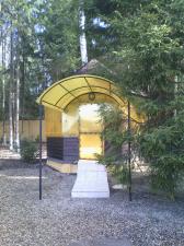 Козырек-навес покрытие поликарбонат 8мм цвет желтый