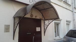 Козырек полусфера с декоративным заполнением покрытие поликарбонат бронза 8мм